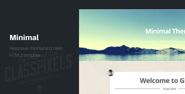Minimal Responsive HTML5 Blog template - Personal Site Templates