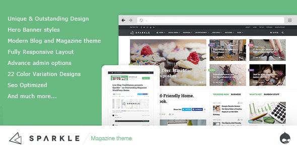 Sparkle - Responsive News/Magazine Drupal 7.6 theme - Blog / Magazine Drupal