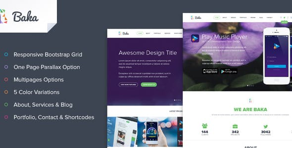Baka Multipurpose HTML Template