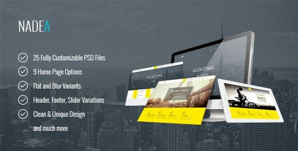 Nadea – Multipurpose PSD Template - Corporate Photoshop