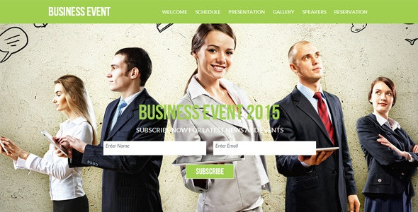 Business Event - Corporate Muse Templates
