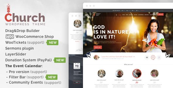 Church  - WordPress - Churches Nonprofit