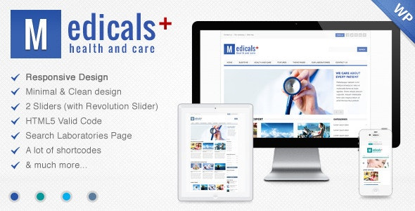 Medicals Health & Medical WordPress Theme - Health & Beauty Retail