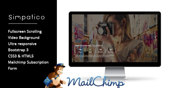 Simpatico - Creative Countdown Coming Soon Page - Under Construction Specialty Pages