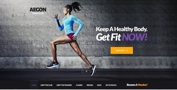 Aegon Fitness Club - One Page Fitness PSD Theme