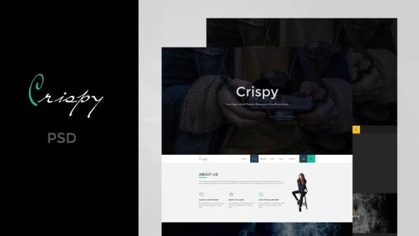 Crispy | One Page PSD - Corporate Photoshop