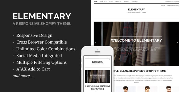 Elementary - A Responsive Shopify Theme - Shopify eCommerce