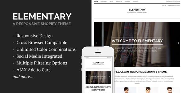 Elementary - A Responsive Shopify Theme