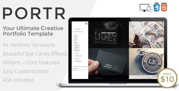 PORTR - Ultimate Creative Portfolio Template - Portfolio Creative