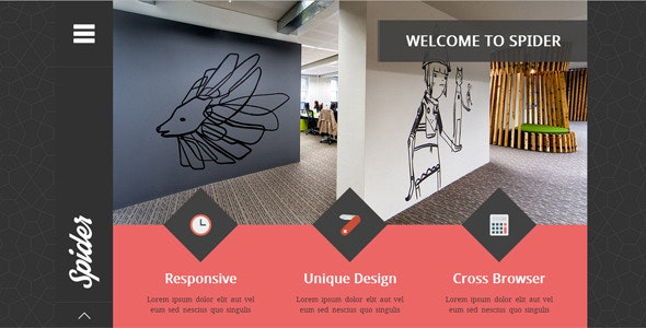 Spider - Flat Creative  Portfolio HTML Template - Portfolio Creative