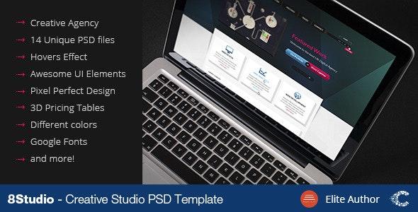 A Stunning Interactive Agency PSD - Portfolio Creative