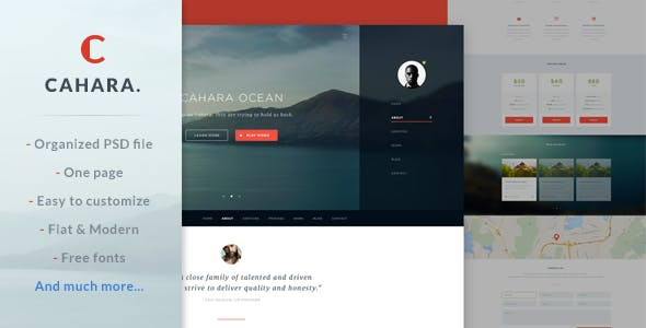 Cahara - Onepage Agency Template