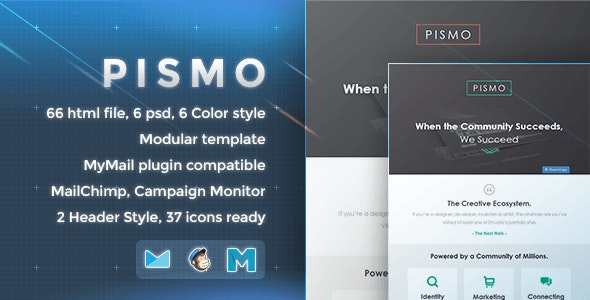 Pismo - Responsive Email Template - Newsletters Email Templates