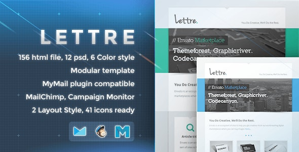 Lettre - Responsive Email Template - Newsletters Email Templates