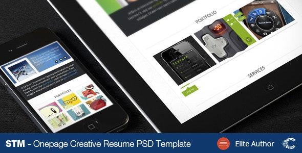 STM One Page Creative Theme - Portfolio Creative
