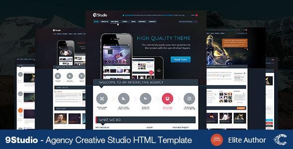 9studio   Creative Unique HTML5 Theme - Portfolio Creative
