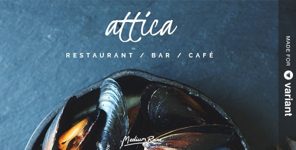 Attica - Restaurant Template with Page Builder - Food Retail